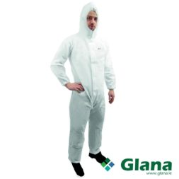 JET White Coverall with Hood PP RES 4 CAT IV