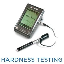 Hardness testing of metals