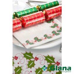 Poppies Napkin Christmas Design