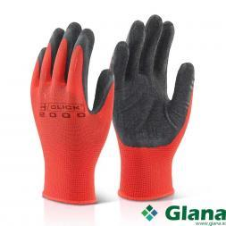 B-CLICK 2000 Multi Purpose Latex Poly Glove Black XL