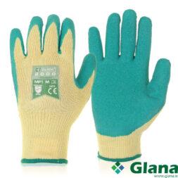 Multi Purpose Green Knitted Glove Latex Coating