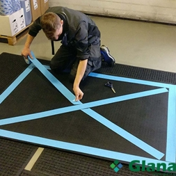 Doubled Sided Tape for Waterhog Fork Lift Truck Mat